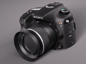 sony alpha 77 photo camera 3d max