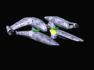 starfighter spaceship spacecraft 3d lwo