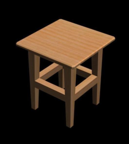 3d stool model