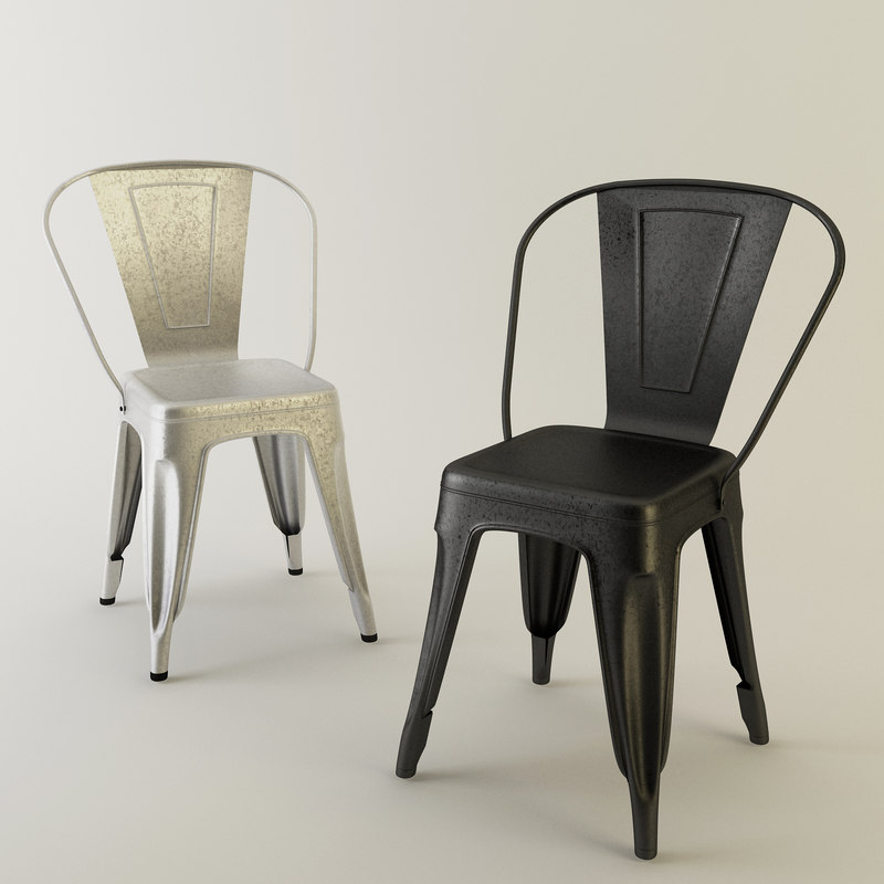 tolix chair metal 3d max
