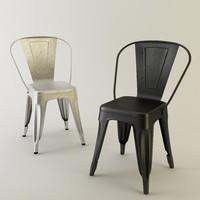 tolix chair metal 3d max