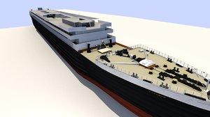 ocean liner rms titanic 3d model