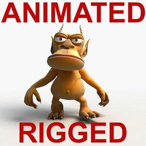 3d rigged animation walk