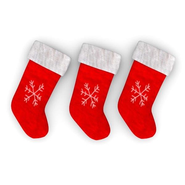 3d model christmas socks