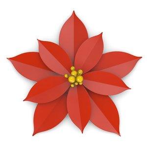 decorative flower 3d model