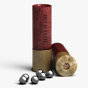 shotgun shell buckshots 3d model