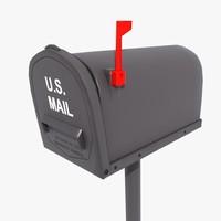 3d model mailbox box mail