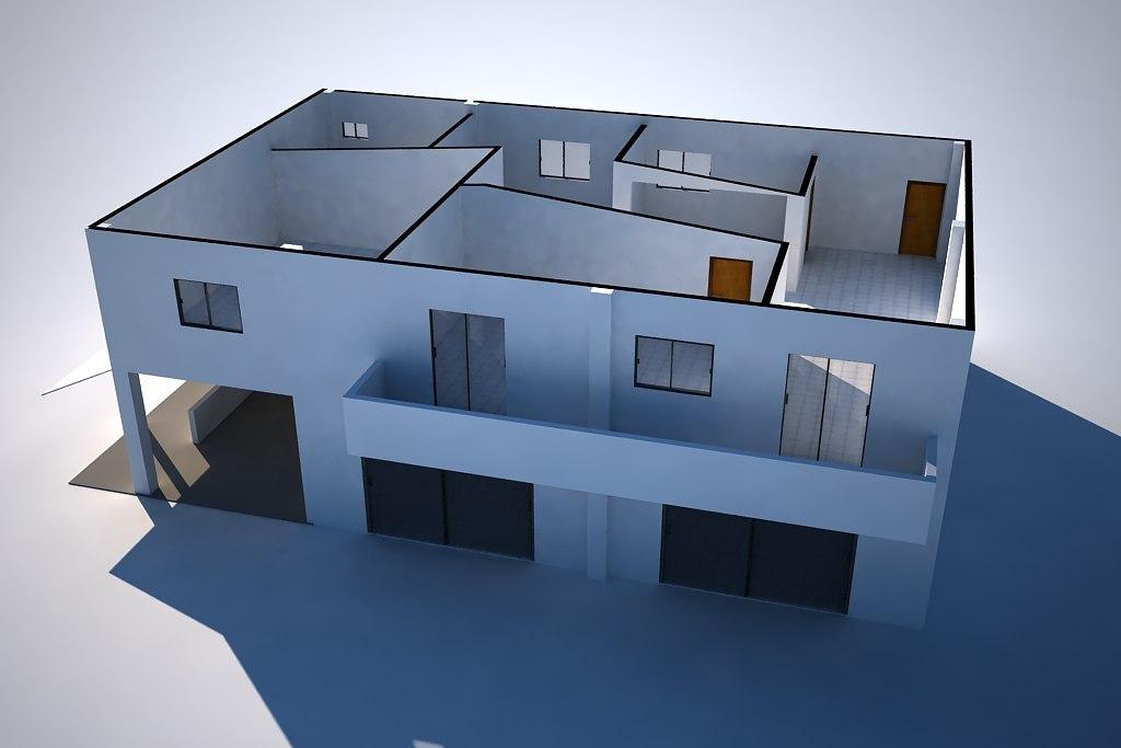 house apto 3d max