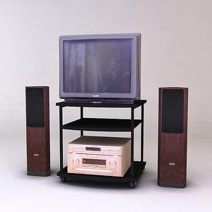 tv table 3d obj