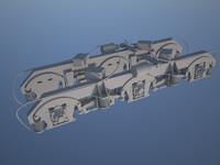 bogey false-panels for tem2um diesel loco model