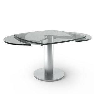 3d model titan iii table