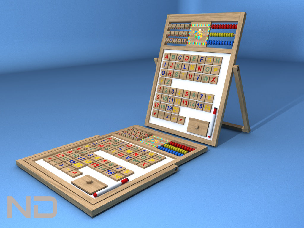 caillou abacus wood 3d model