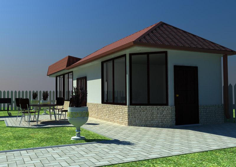 backyard house 3d max