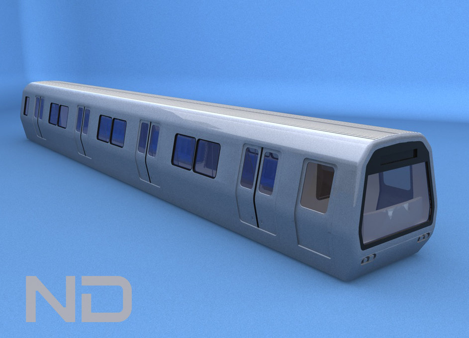 3ds max subway train