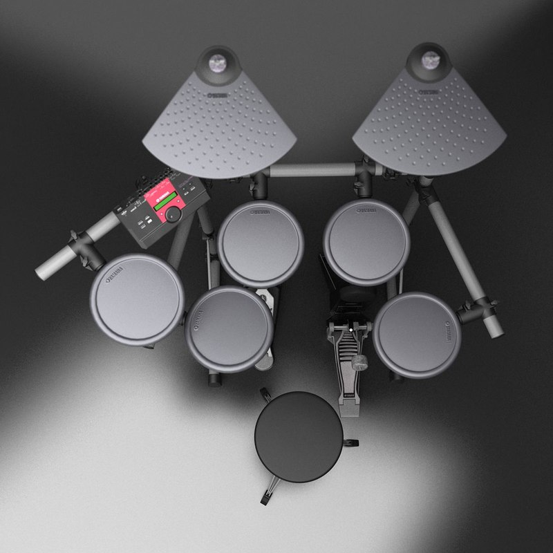 realistic electric drums 3d model