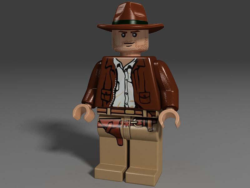 lego cowboy hat toy 3d 3ds