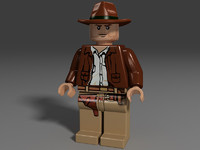 lego cowboy hat toy 3d 3ds