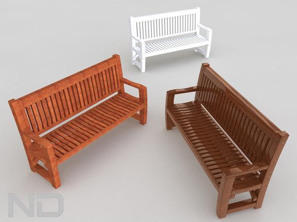 memorial bench 3d model