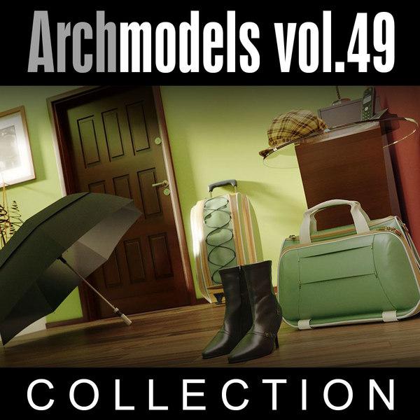 3d model archmodels vol 49 shoes