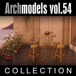 archmodels vol 54 restaurant furniture 3d model