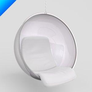 3ds max eero aarnio chair bubble