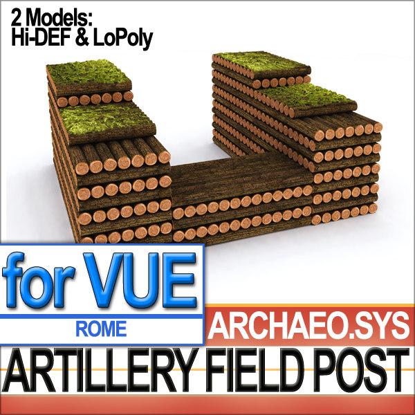 roman artillery field post 3d 3ds