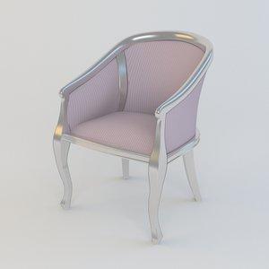 armchair gastone chair 3d model
