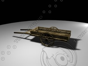 cart old wagon 3d model