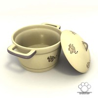 Ceramic Soup Pot 01