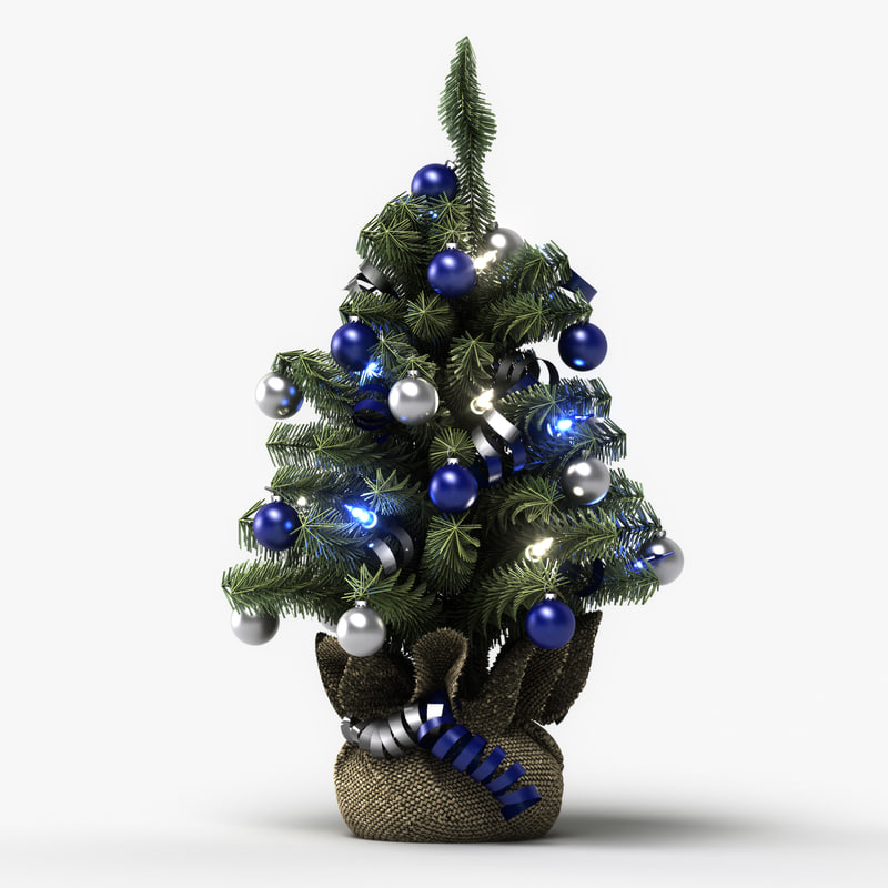 Tiny christmas tree ornaments - Mini Christmas Tree 3d Model