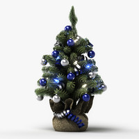 mini christmas tree 3d model