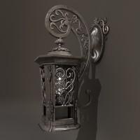 victorian lantern 3d c4d