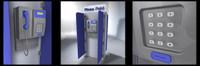 3d public pay phone model