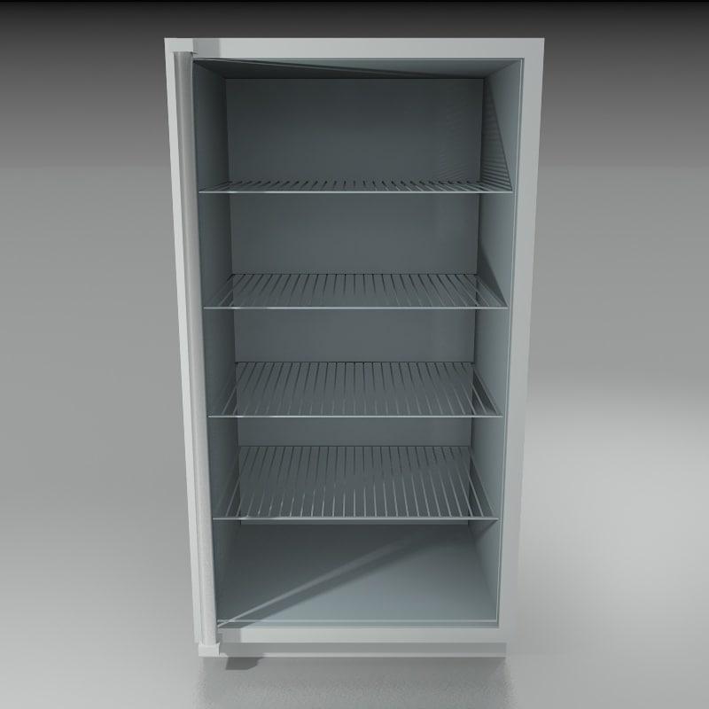 3d glass door refrigerator model