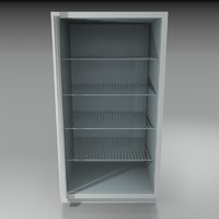 3d glass door refrigerator model