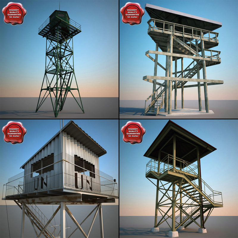 3d model guard towers