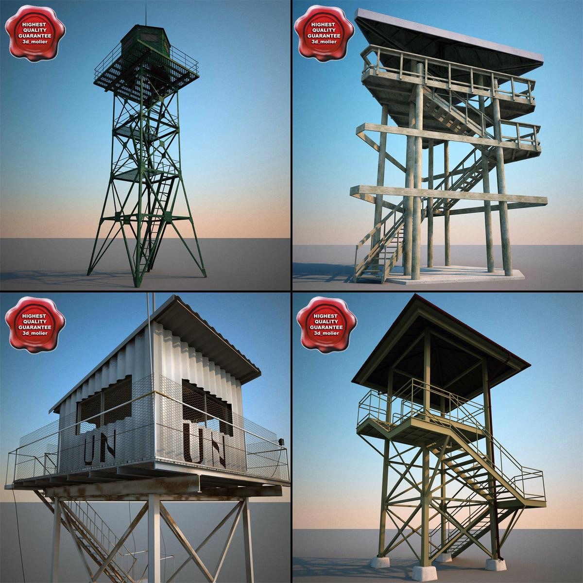 3d model guard towers