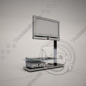 cattelan italia hollywood tv stand 3d model