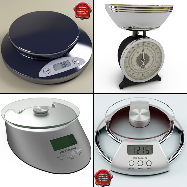 3d kitchen scales model