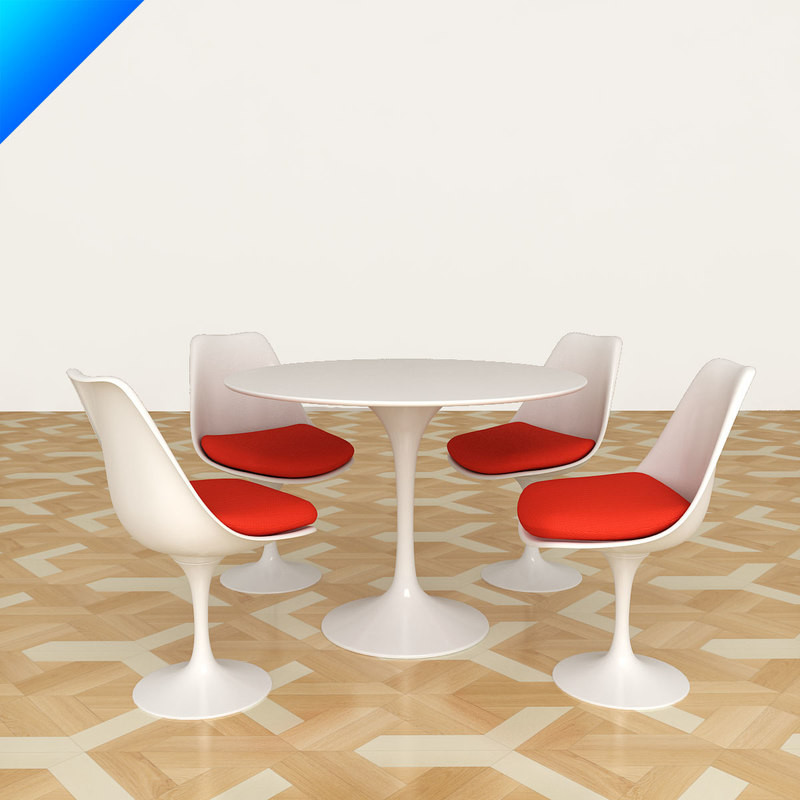 Maya Table Chair - Knoll tulip table and chairs