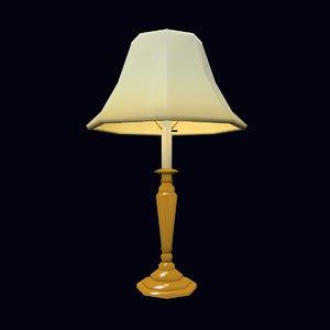 3d 3ds brass lamp