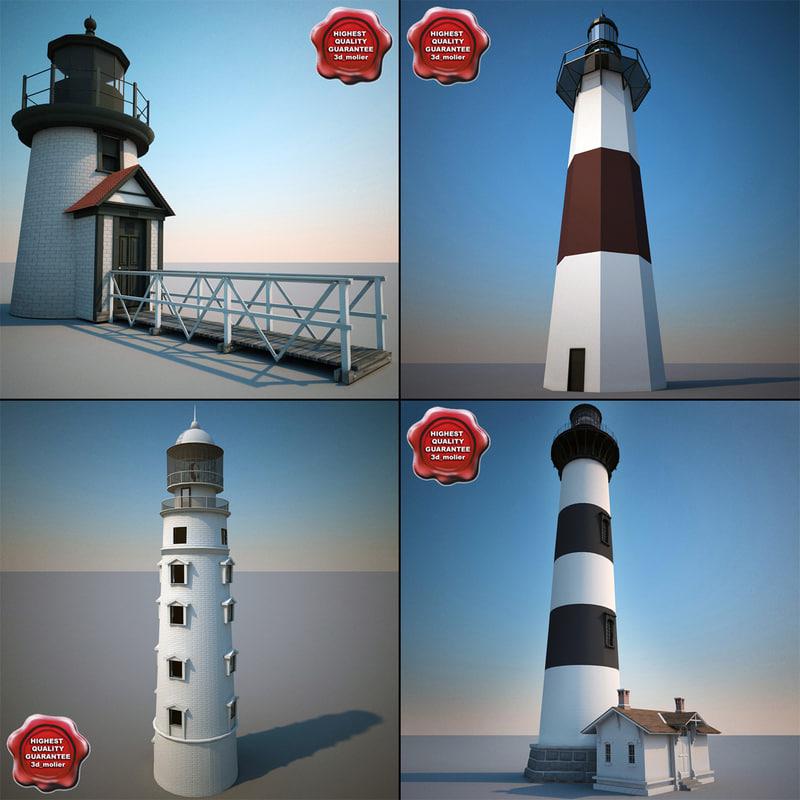 3d lighthouses modelled