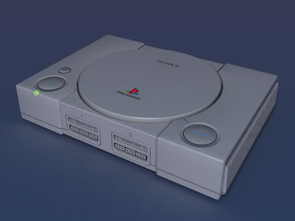 3d model of playstation 1