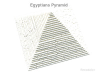 pyramid square egypt 3d model