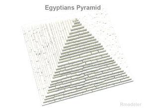 pyramid square egypt 3d model