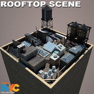 studios rooftop 01 scene 3d max