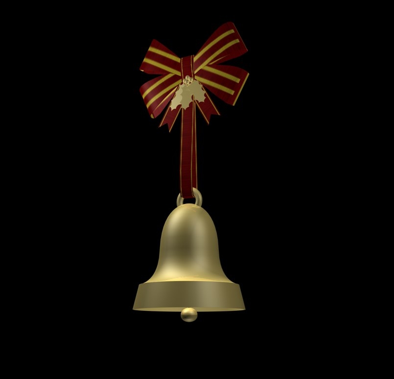 c4d holiday bell