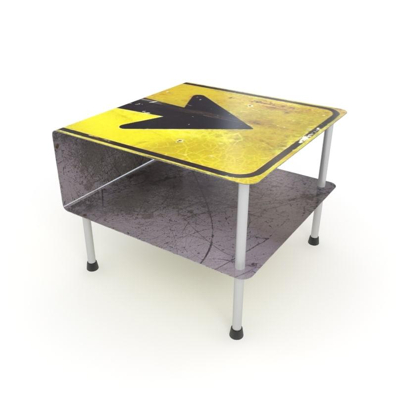 street table 3d max