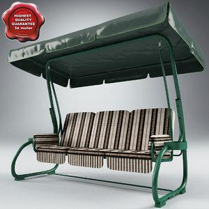 swing seat gazebo v2 3d model