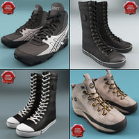 3d winter sport shoes model